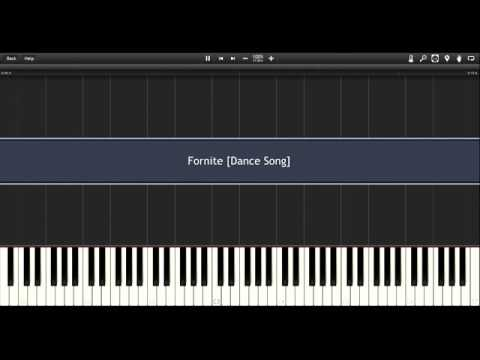 Fortnite Dance Song Easy Tutorial Piano Synthesia Youtube