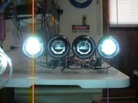"Chevy 3 3 >> Quad 5-3/4"" Round #6 55 Watt HID/Bi-Xenon Projector ..."