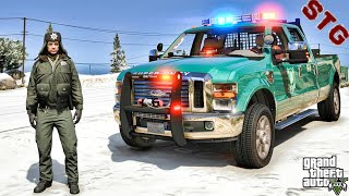FORD SUPER DUTY| PARK RANGER PATROL!!!| #115 (GTA 5 REAL LIFE PC POLICE MOD)