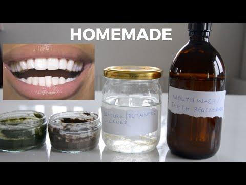 4  DIY Toothpaste |Whitener/ Plaque Remover | Denture/Retainers Cleaner | Mouthwash | Regenerator