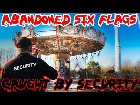 (GONE WRONG) SNEAKING INTO ABANDONED SIX FLAGS! SECURITY CALLED THE COPS!