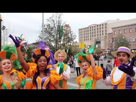 Orlando's Biggest Party! Mardi Gras At Universal Studios 2018!  | New Parade Floats, Food & Drink