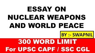 essay on nuclear energy and world peace in english