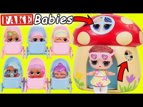 Fake LOL Surprise Dolls Dress Up  LQL Lil Sisters Magical House DIY, Confetti Pop Wrong Fashion!
