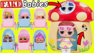 Fake LOL Surprise Dolls Dress Up + LQL Lil Sisters Magical House DIY, Confetti Pop Wrong Fashion!