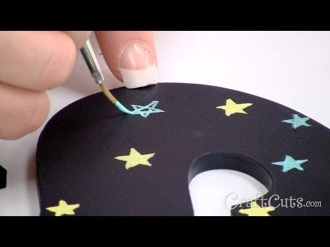How to Paint Stars on Wood Letters