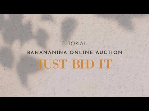 Tutorial: Banananina Online Auction