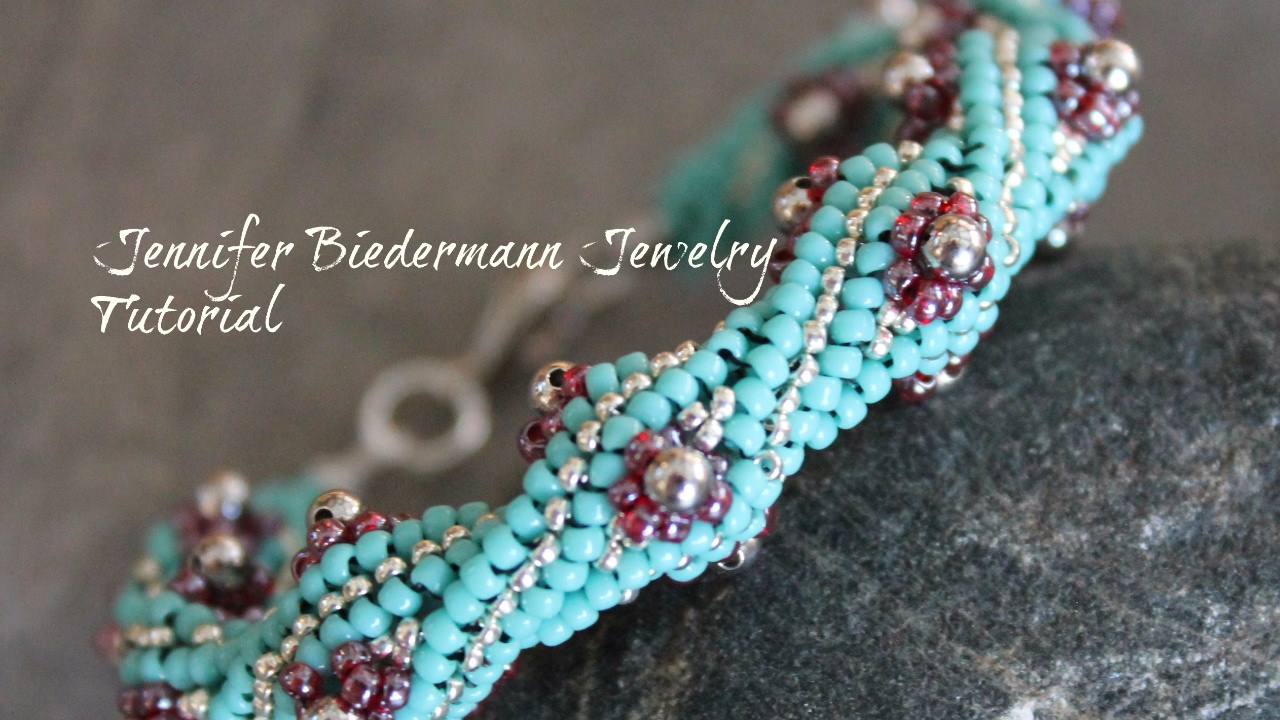 Twisted Herringbone Flower Bud Bracelet Tutorial