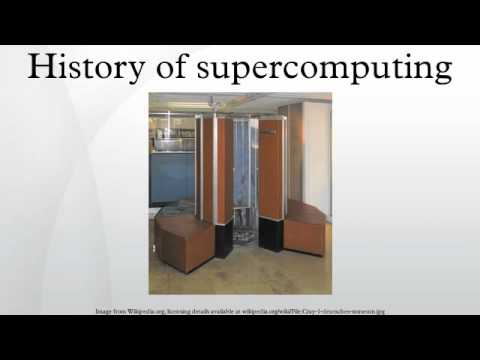 History of supercomputing