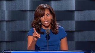 Watch highlights from US first lady Michelle Obama's speech at the 2016 Democratic convention