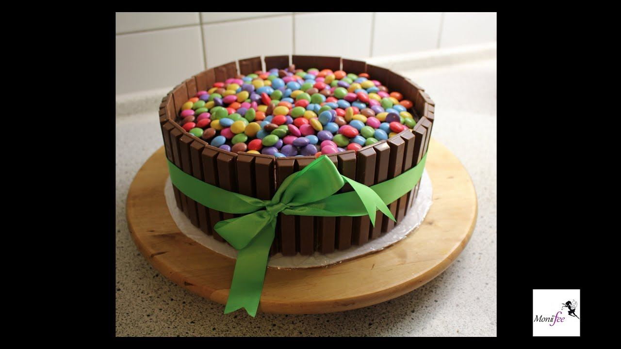 Candy Cake Smarties Kitkat Torte L Moniifee Youtube