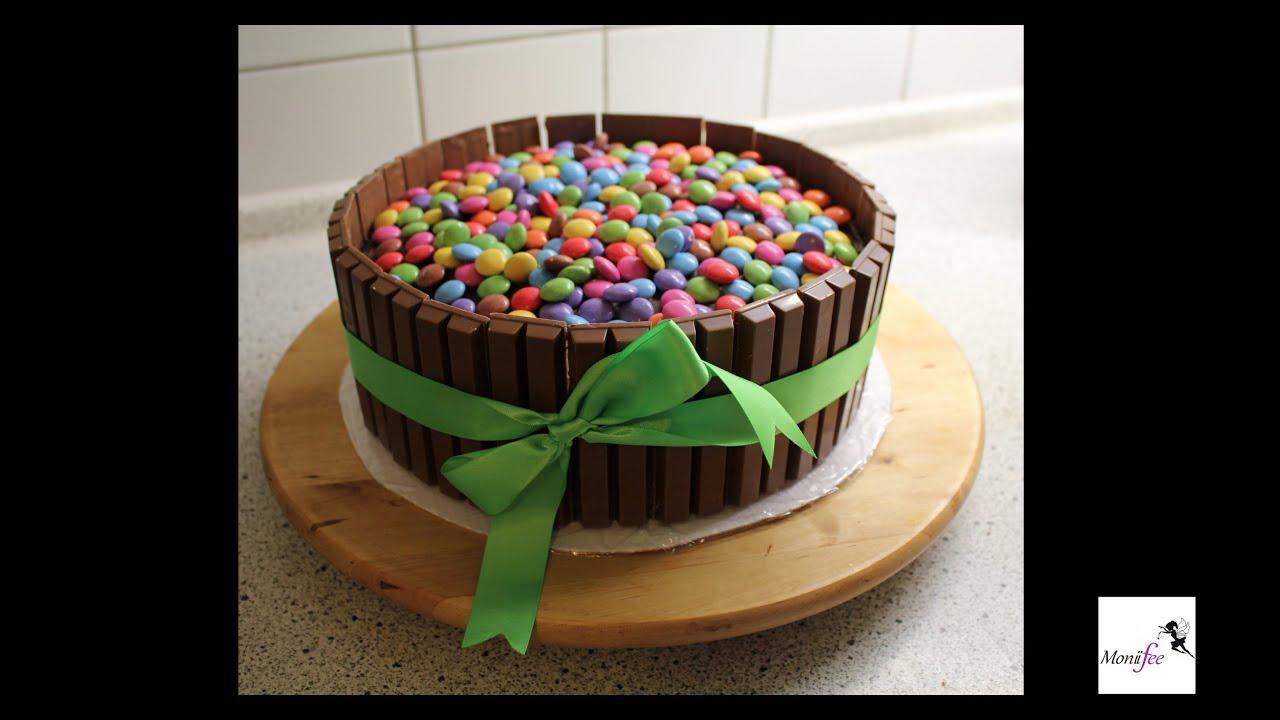Candy Cake  Smarties Kitkat Torte l MoniiFee  YouTube