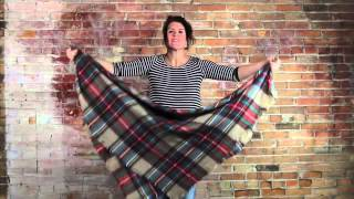 8 Ways to Tie a Huge Blanket Scarf!