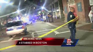 4 people stabbed in downtown Boston