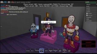 Undertale Roblox Roleplay: as aventuras Monsterous de Mettaton, Papyrus, e Sans! (EP. 1)