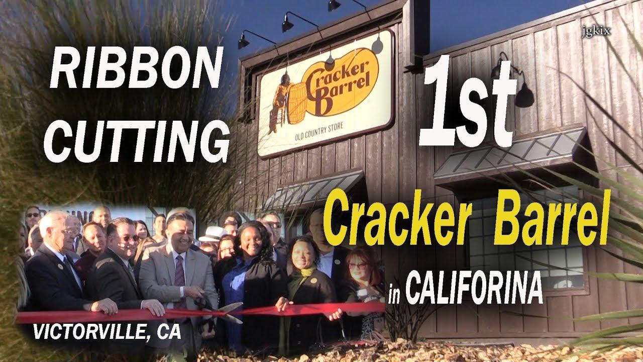 Ribbon Cutting 1st Cracker Barrel In California Youtube