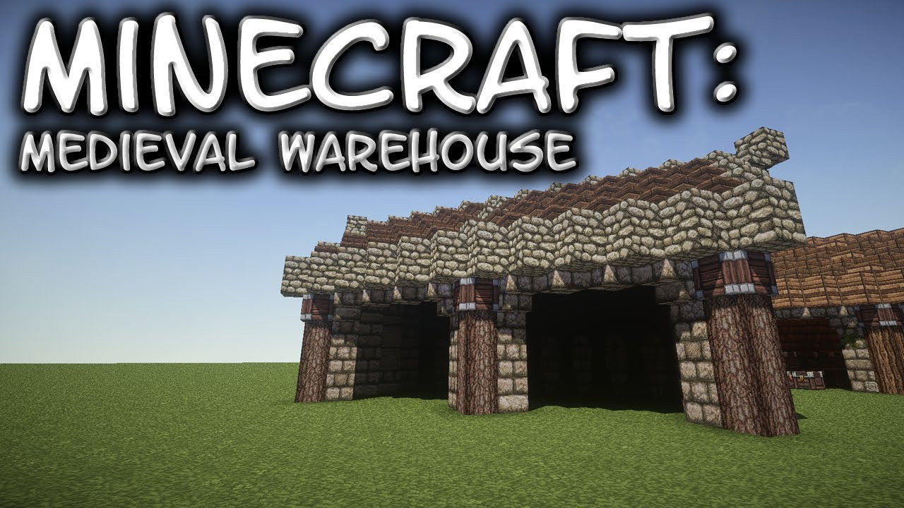 Minecraft Small Medieval Warehouse Tutorial 1 Youtube