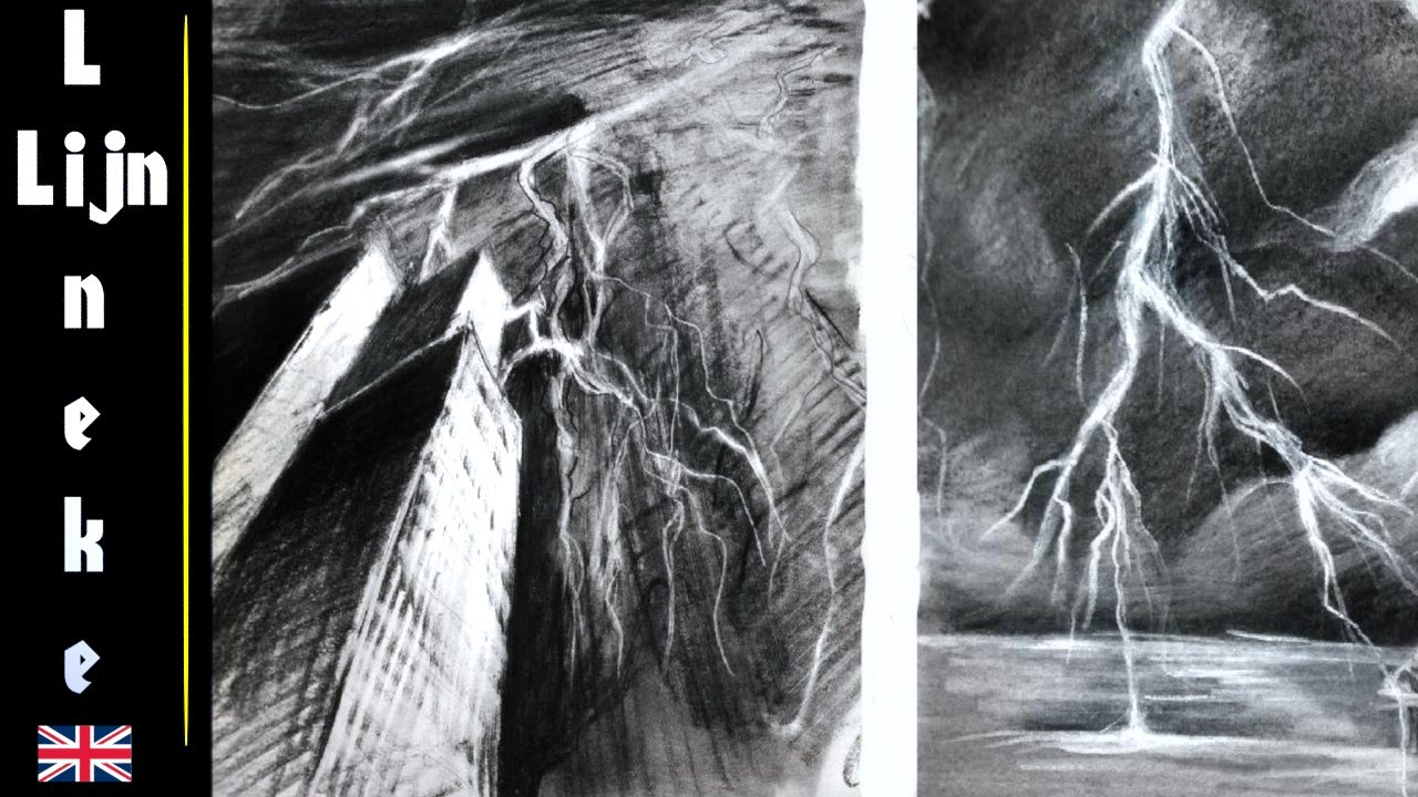 Drawing LIGHTNING - Art Tips and tricks graphite and ...