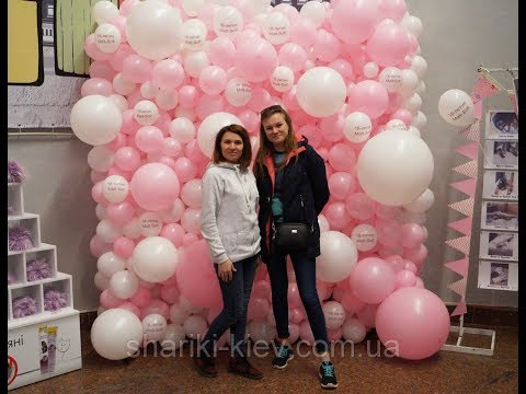 Стена Фотозона из шаров как сделать. Balloon Wall. Organic Balloon/