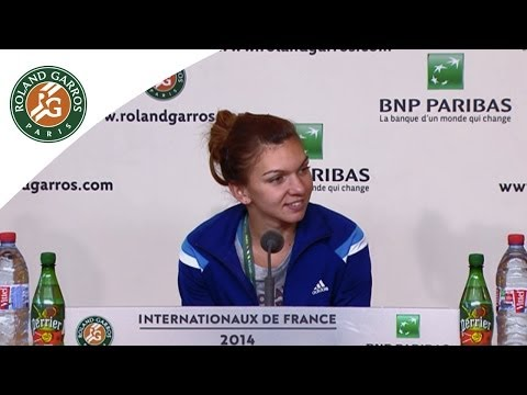 Press conference Simona Halep 2014 French Open SF