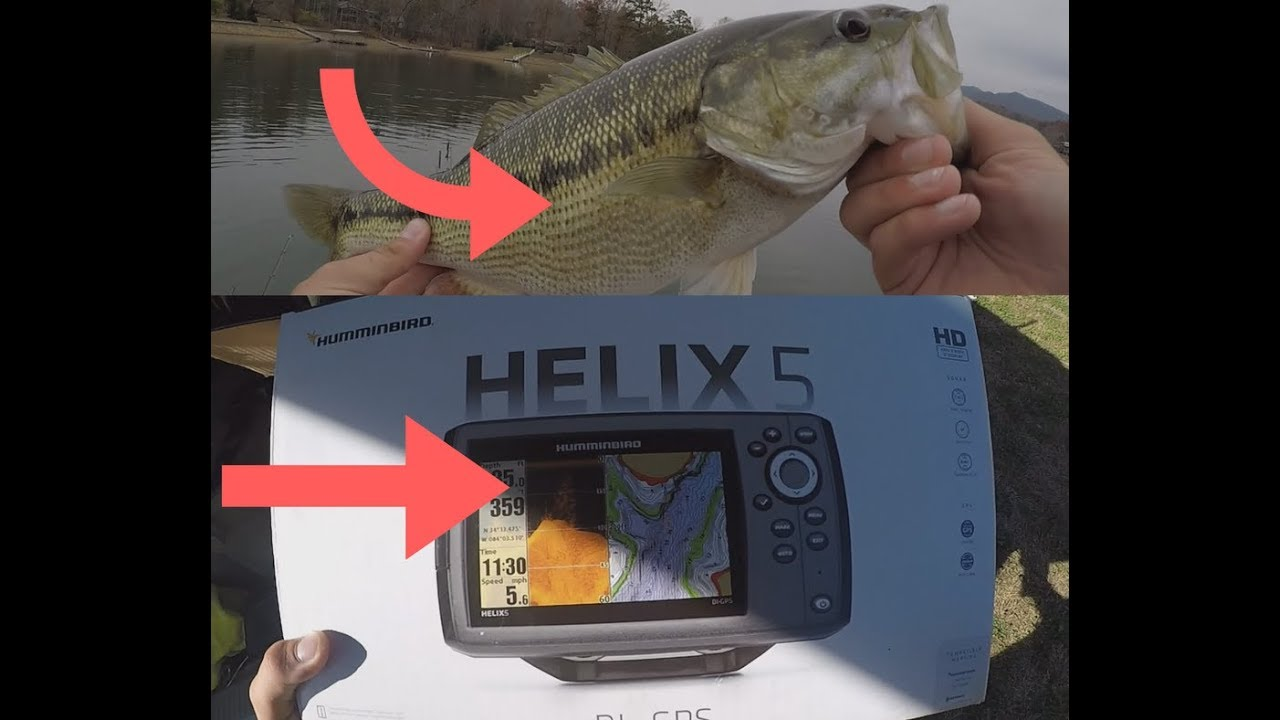 Humminbird Helix 5 DI GPS Install ft  BIG CHATUGE SPOTTED BASS