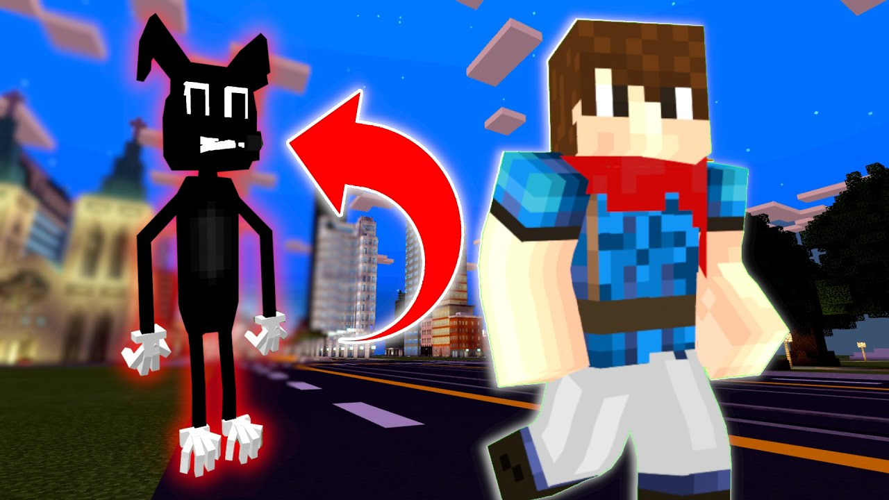 We Found CARTOON DOG In An ABANDONED CITY At 3AM! (He Tried To EAT US!) - Minecraft Mods Gameplay