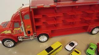 麥坤汽車總動員大貨櫃聲光.音效手提玩具收納車