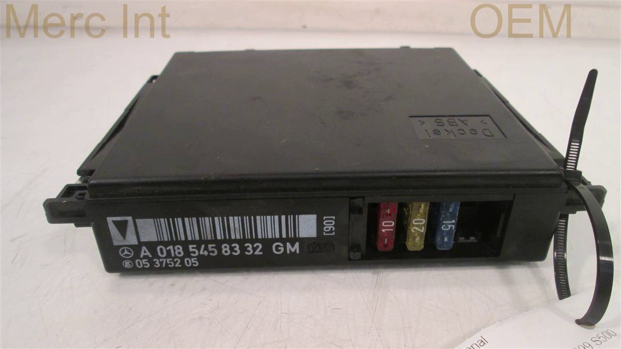 1999 Mercedes S500 Fuse Relay Id 0185458332 Mbipartscom Used Oem Box Parts Dismantl
