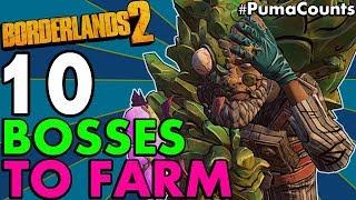 Top 10 Best Bosses to Farm in Borderlands 2 Redux (For Eridium, Legendaries and XP) #PumaCounts