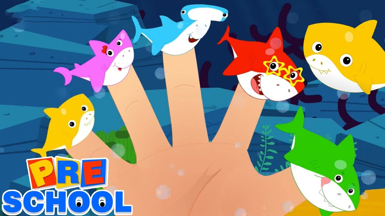 Baby Finger | Mommy Finger | Shark Finger Family | Baby Shark Song | Nursery Rhymes