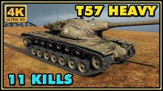 World of Tanks | T57 Heavy - 11 Kills - 8K Damage - 2 VS 7 Gameplay