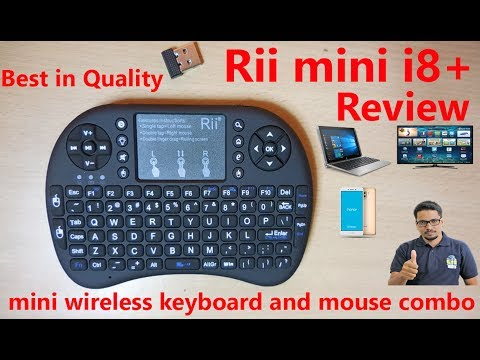 Rii I8+ Wireless Keyboard & Mouse Review In Details(Hindi)