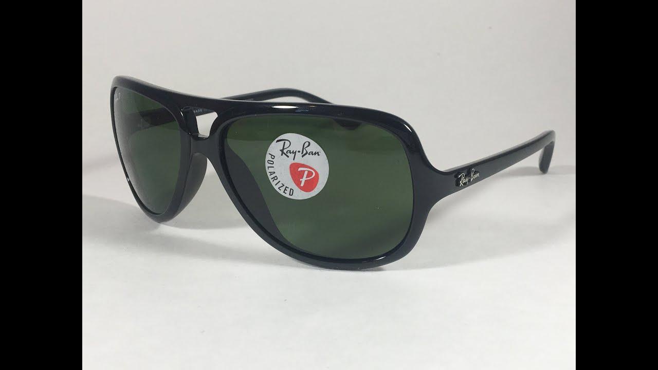 1ee5803ebf New Authentic Ray-Ban Polarized Turbo Aviator Sunglasses Black Green Men  RB4162 601 2P 59mm
