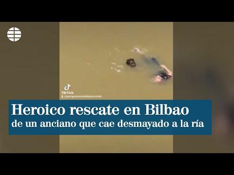 Tres senegaleses y un policía salvan a un hombre que cayó a la ría en Bilbao