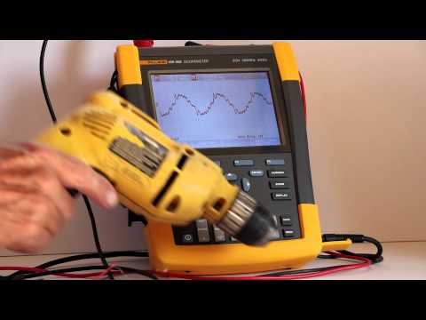 Using the Fluke 190-502 Scopemeter to measure electrical noise
