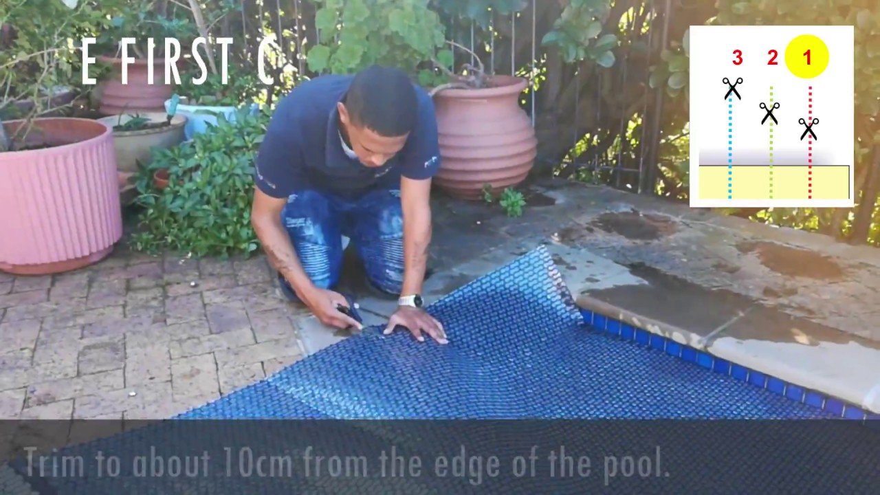 Pool Solarfolie 500 My Sol Guard Geobubble How To Trim A Geobubble Pool Cover From Powerplastics Pool Covers