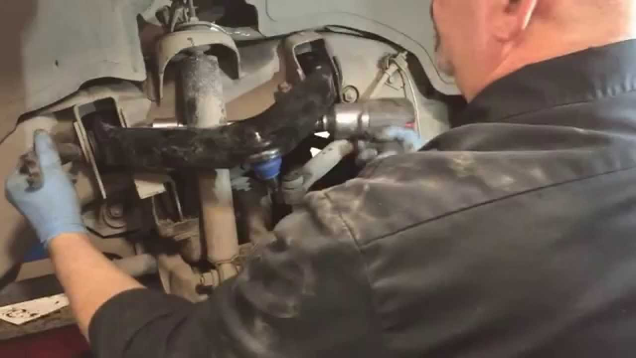 hight resolution of replace lower ball joints and upper control arms chevy silverado gmc sierra 4x4