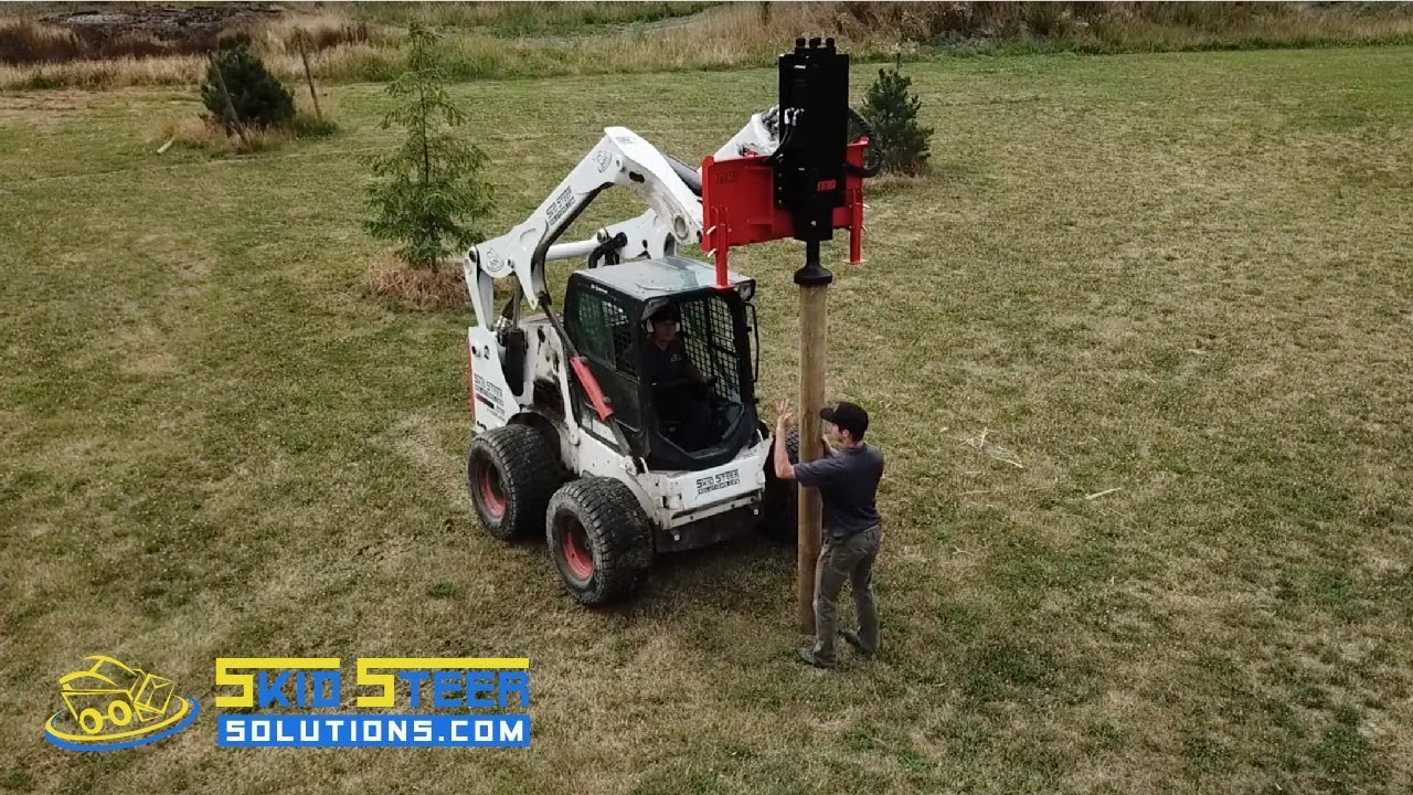 NEW PRODUCT! Eterra PDX-750E Post Driver for Skid Steer Loaders | Skid  Steer Solutions