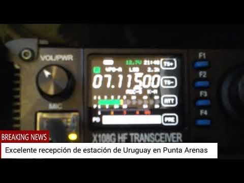 Xiegu X108G recibiendo a Uruguayo desde Punta Arenas, Chile 15.01.2018