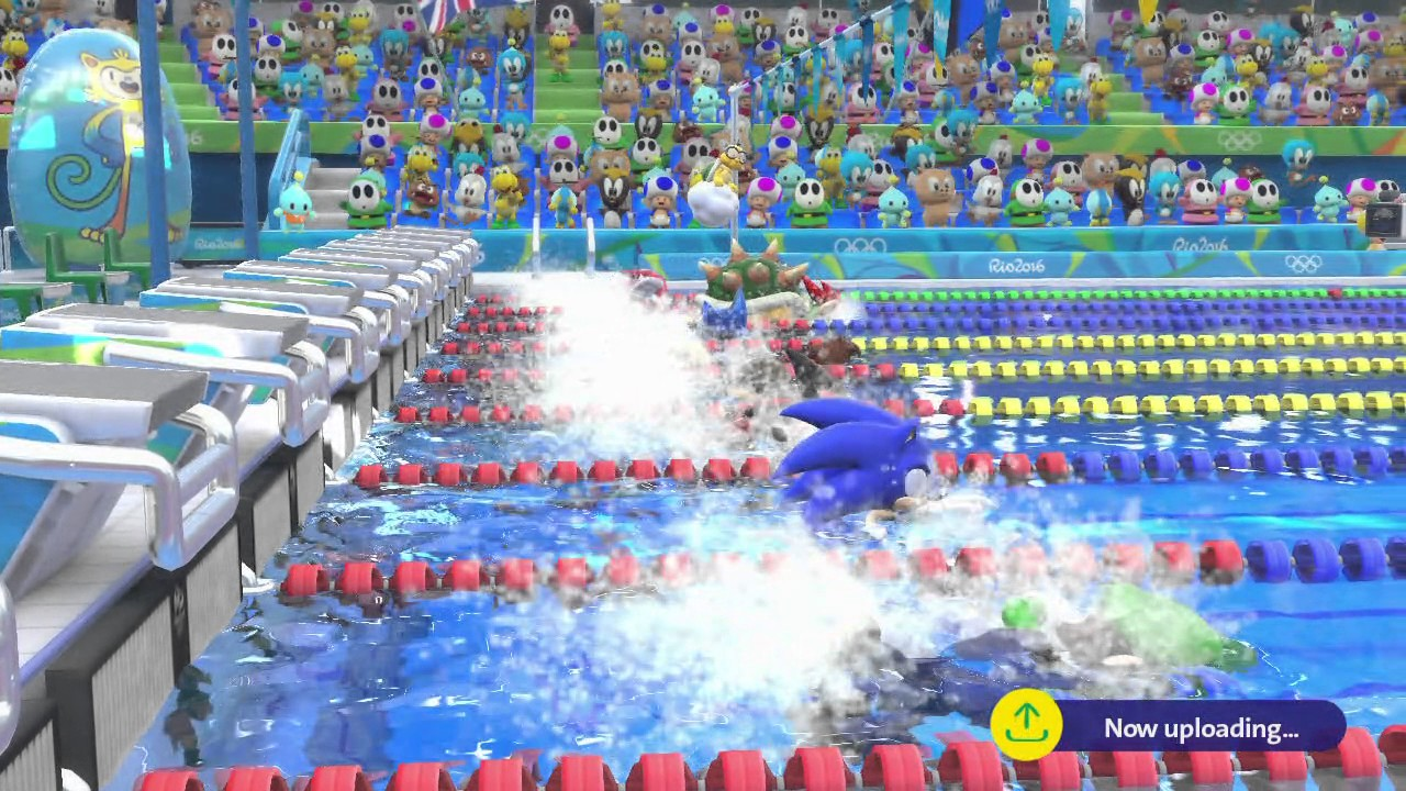 Gaming Detail In Mario And Sonic At The Rio Games Sonic Has To Wear A Life Vest For Swimming Competitions