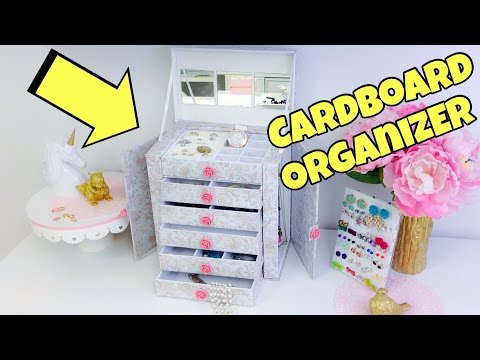 Original and creative Ideas(cardboard organizer)jewelry holder