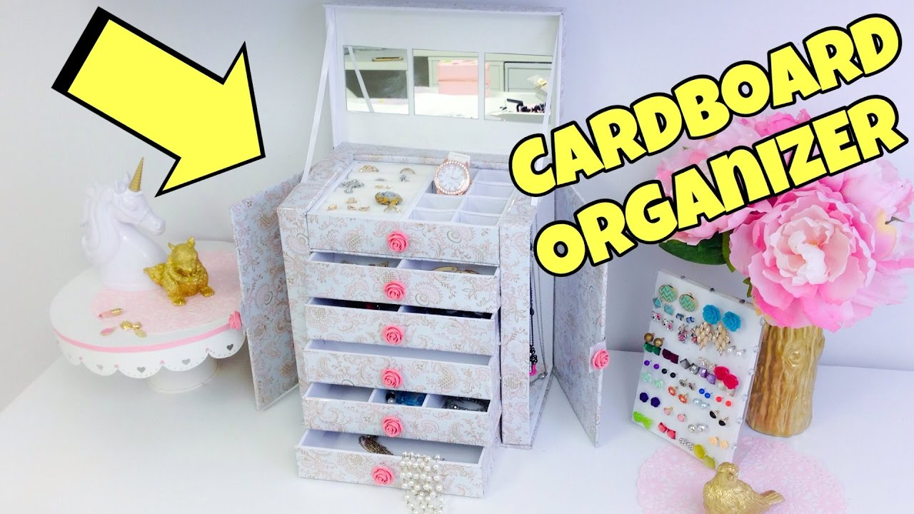 Original and creative Ideascardboard organizerjewelry holder YouTube