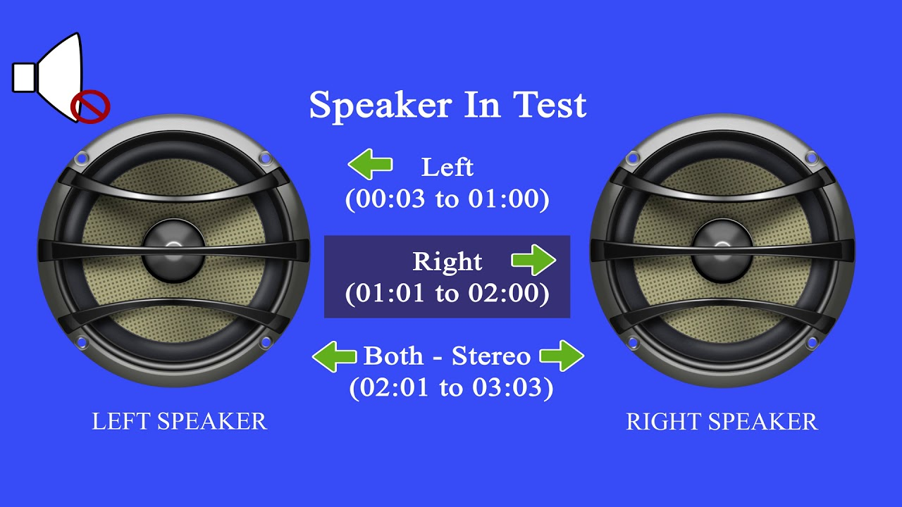 Professional: Speaker Test Kit Left - Right - Stereo
