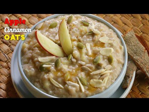 ఆపిల్ సిన్నమన్ ఓట్స్| డ్రై ఫ్రూట్ ఓట్స్ |Apple Cinnamon Oats recipe by vismai food|oats recipe
