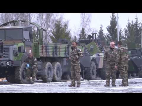 French Military Kit Arrives in Tapa, Estonia