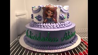 Como decorar un pastel de la princesa Sofia super facil