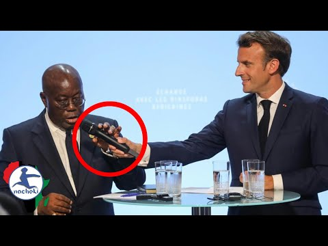 Ghana President Speech on African Diaspora Force Macron to Almost Snatch the Mic