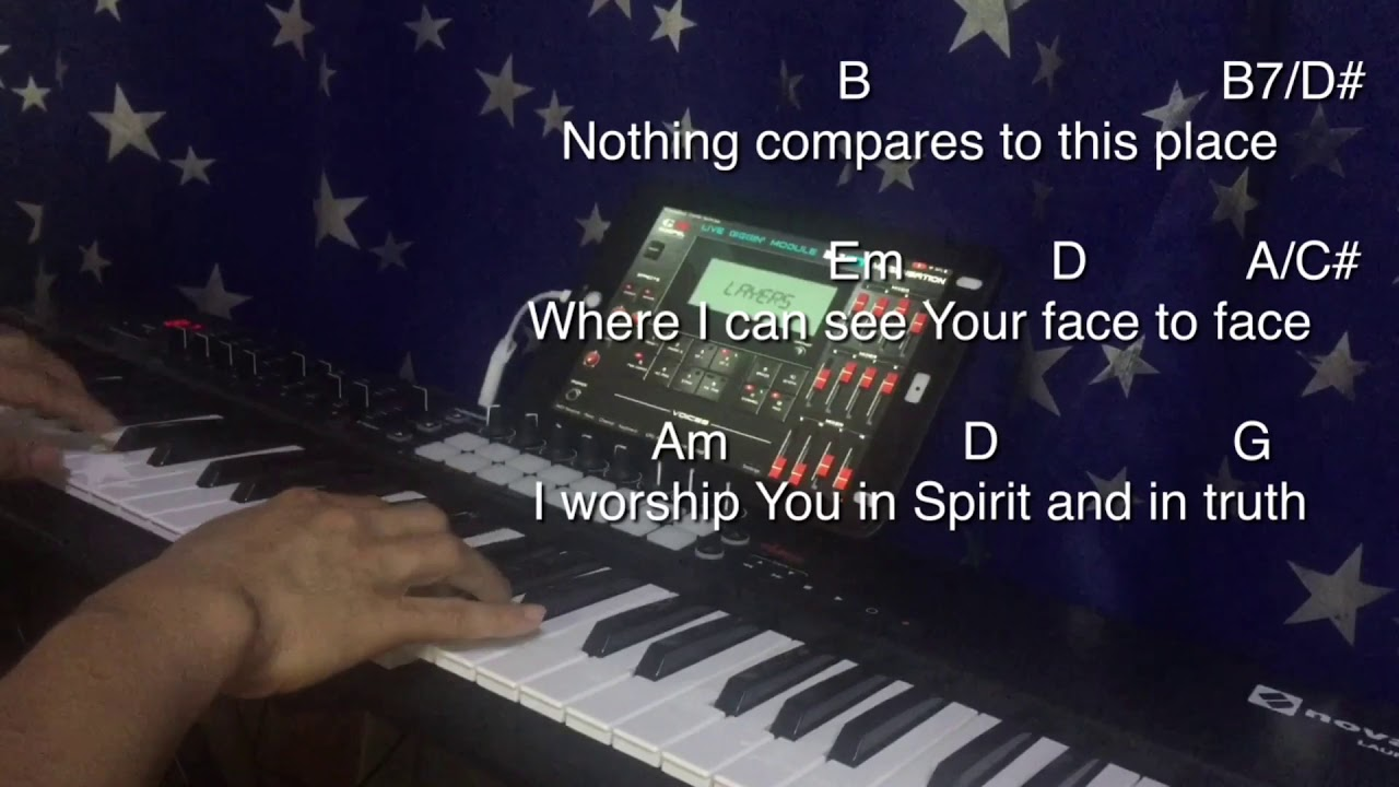 Come Holy Spirit Fall on Me Now lyrics with chords ipad Piano Cover