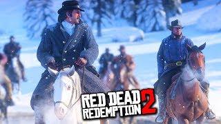 ПОДГОТОВКА К ОГРАБЛЕНИЮ! ПОГОНЯ НА ЛОШАДЯХ - ПРОХОЖДЕНИЕ Red Dead Redemption 2