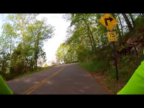 Cycling, Kennesaw Mountain paved road, climb and descent